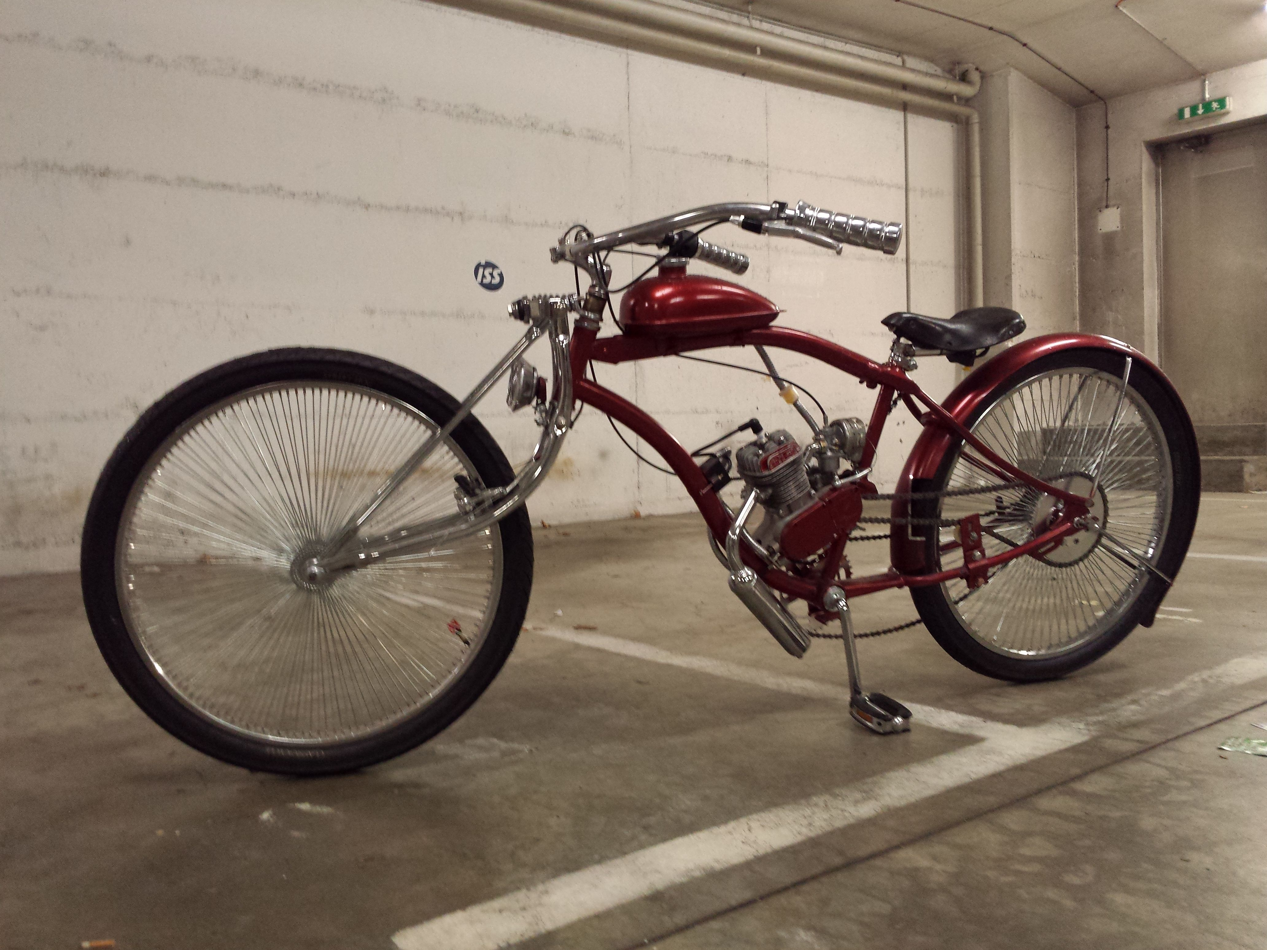 Ash Try Custom Bike Stretch Cruiser Motorized Bike Nr 4 Ash