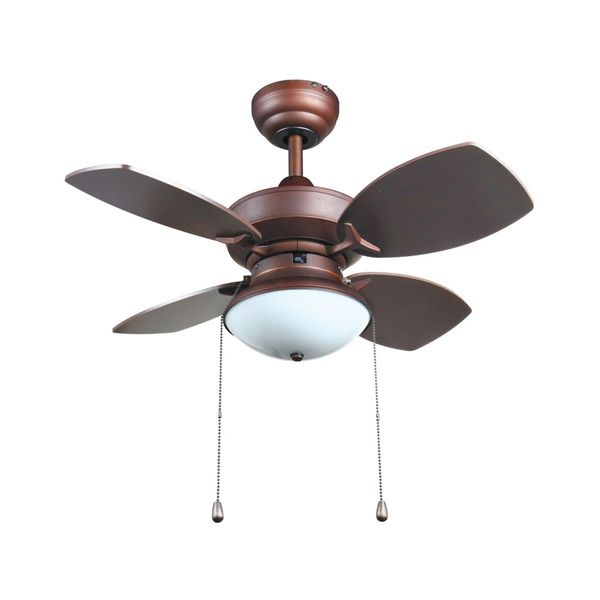With simple to use pull chains this lighted bronze ceiling fan is the perfect way to keep any room bright and cool this fan holds one light bulb for a