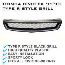 Honda Civic Ek Jdm Type R Style Front Black Grill Grille 96 98 Gli Cxi Honda Civic Civic Sporty Look