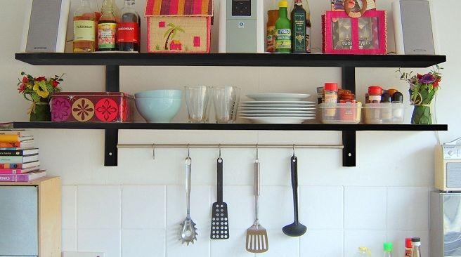 Con estantes divertidos Cocinas para inspirarse Pinterest - estantes para cocina