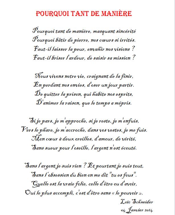 85 Pourquoi Tant De Manière Poeme Poesie à La Manière De