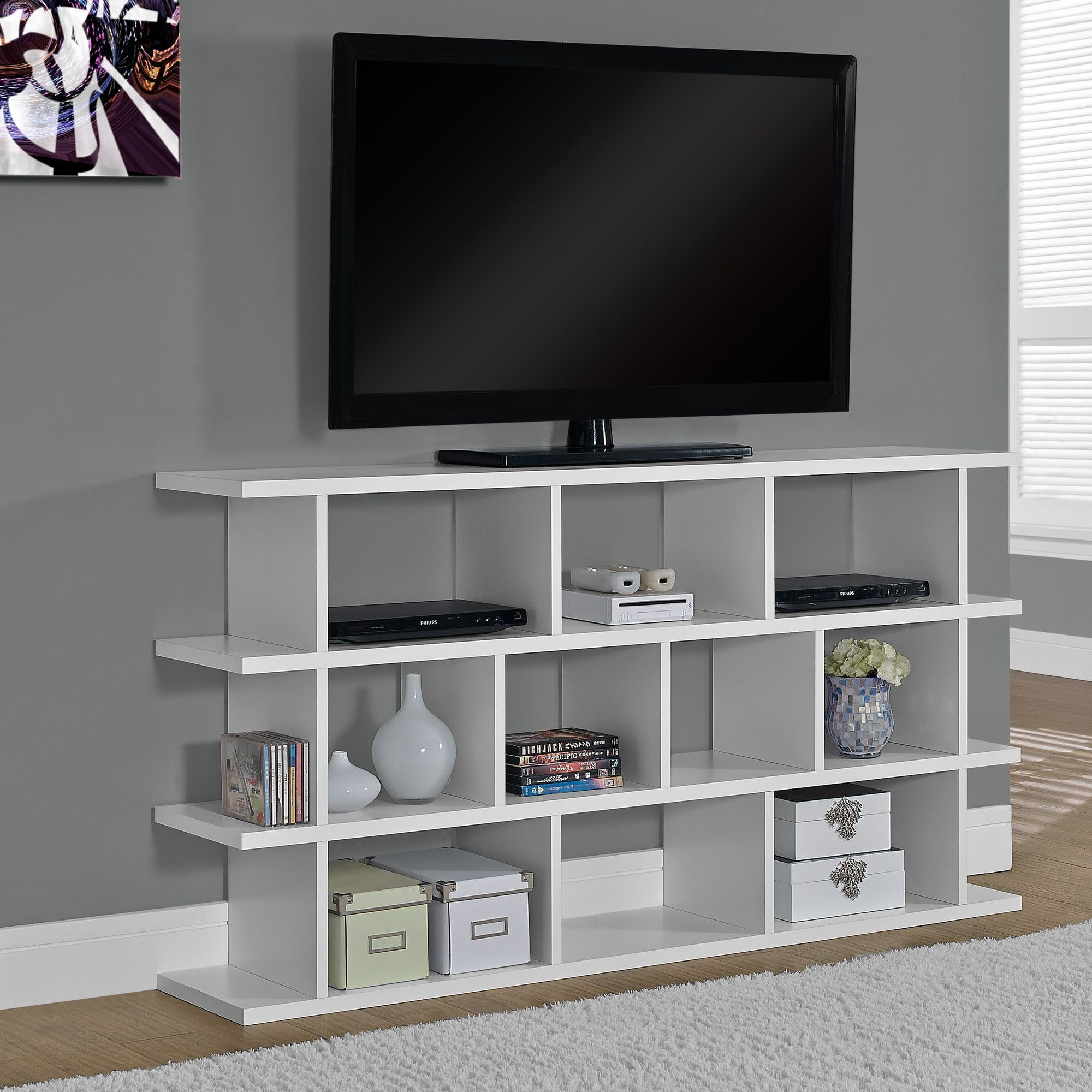 White Hollow core Horizontal Vertical Etagere
