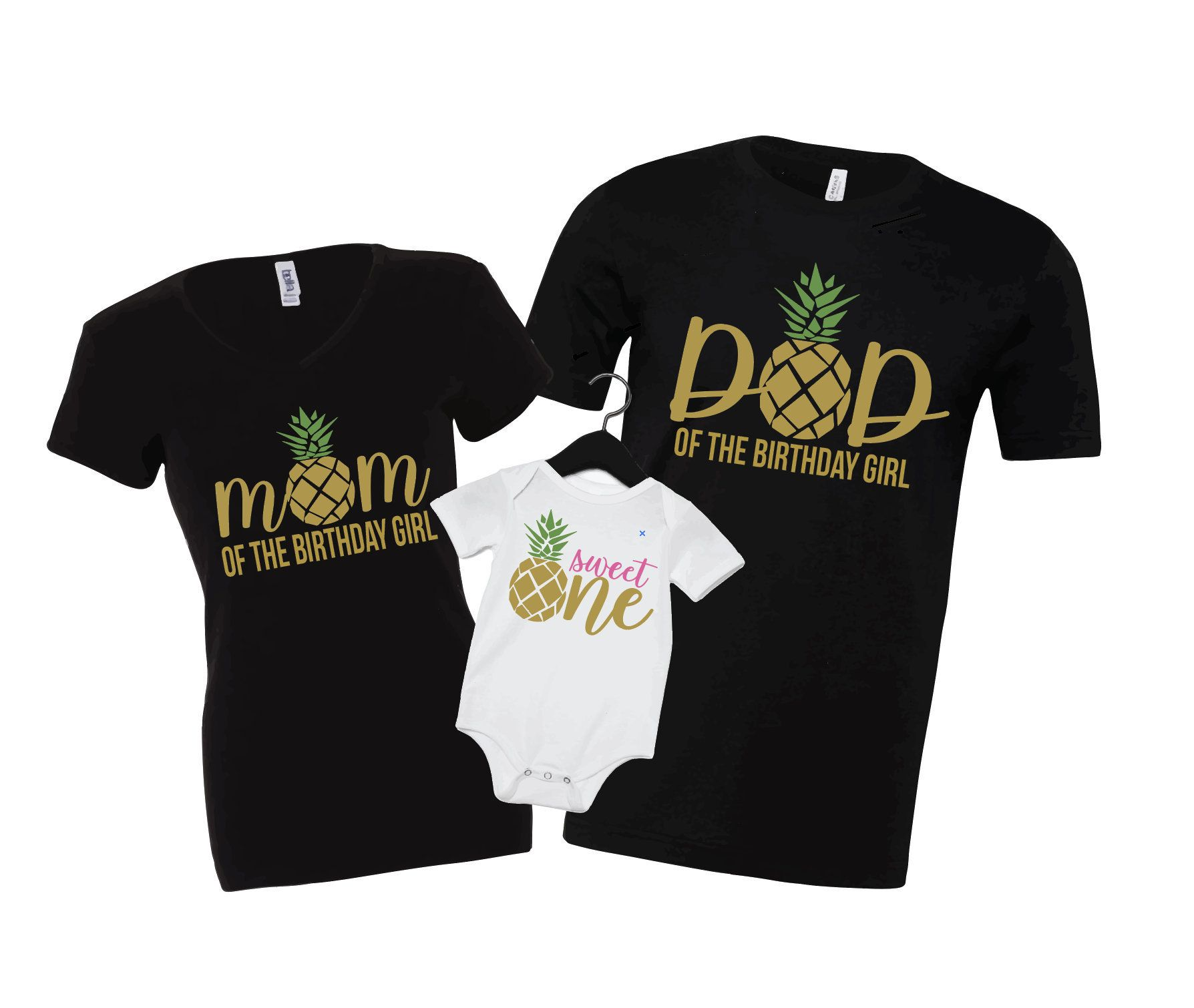 Matching Pineapple Baby One, Baby 1st Birthday, Baby