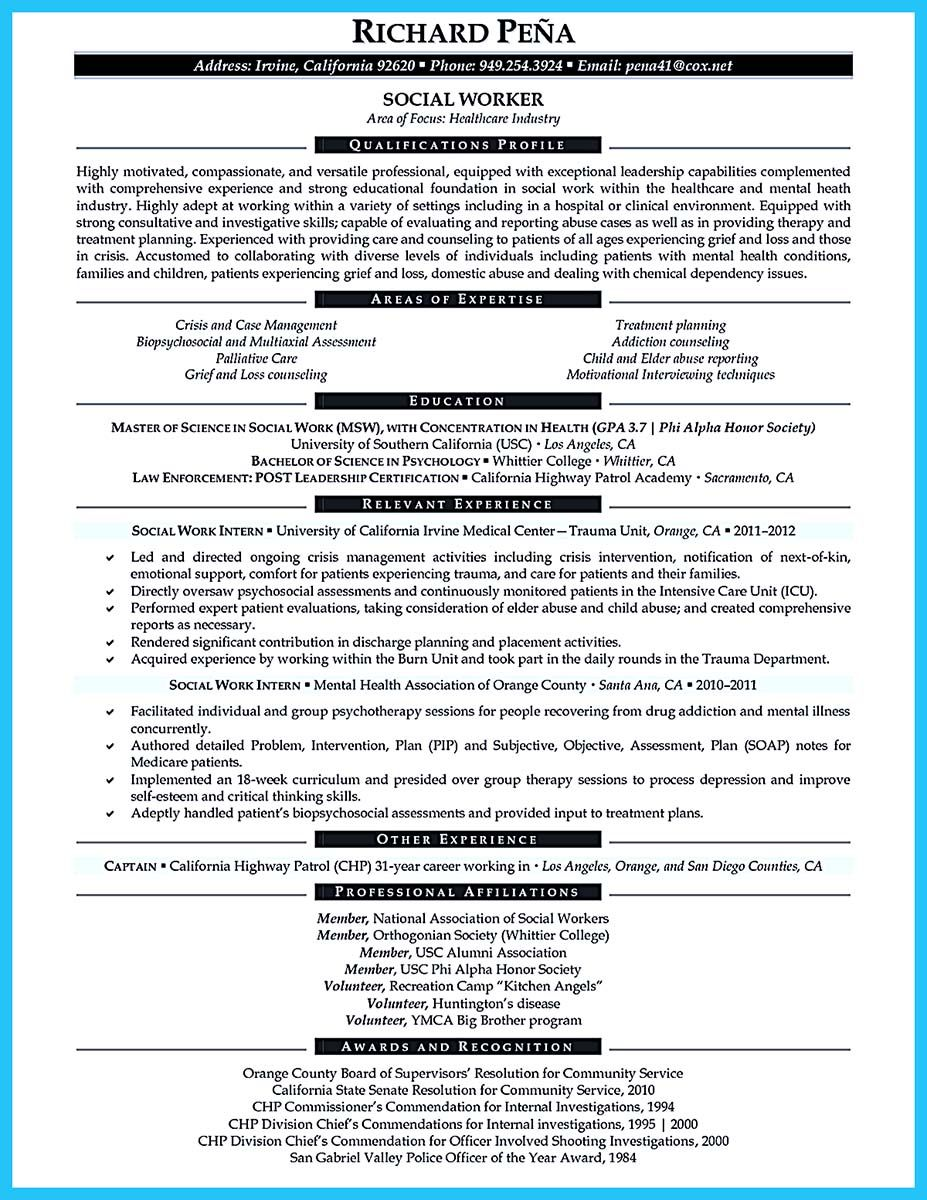 Nice Best Criminal Justice Resume Collection From Professionals Resume Tips Resume Examples Clinical Social Work