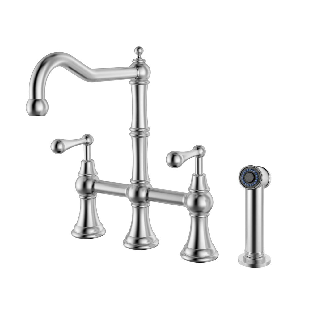 Geyser Brushed Satin Stainless Steel Commercial-grade Bridge ...