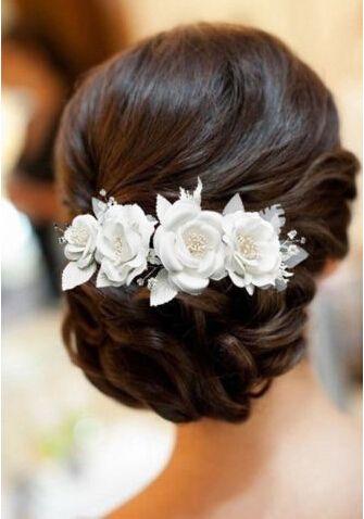 Ozdoba Do Wlosow Slub Kwiaty Hit Wesele Tanio Natural Hair Bun Styles Bridal Hair Wedding Hair Accessories
