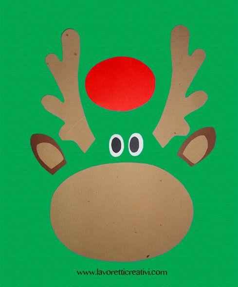 Immagini Di Renne Di Natale.Biglietto A Forma Di Renna Biglietti Di Natale Renna Idee Di Natale