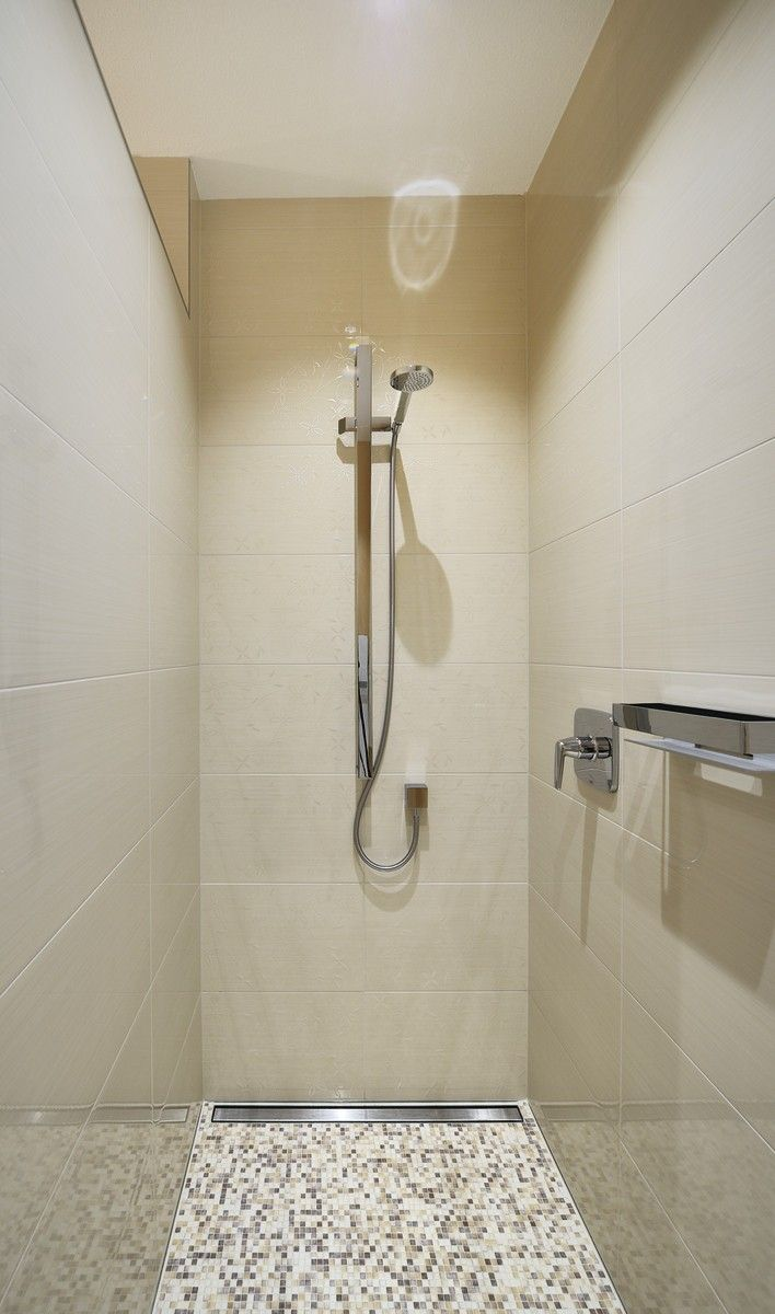 Bodengleiche Dusche Mit Mosaik Fliesen   Badezimmer WeberHaus Bungalow    HausbauDirekt.de