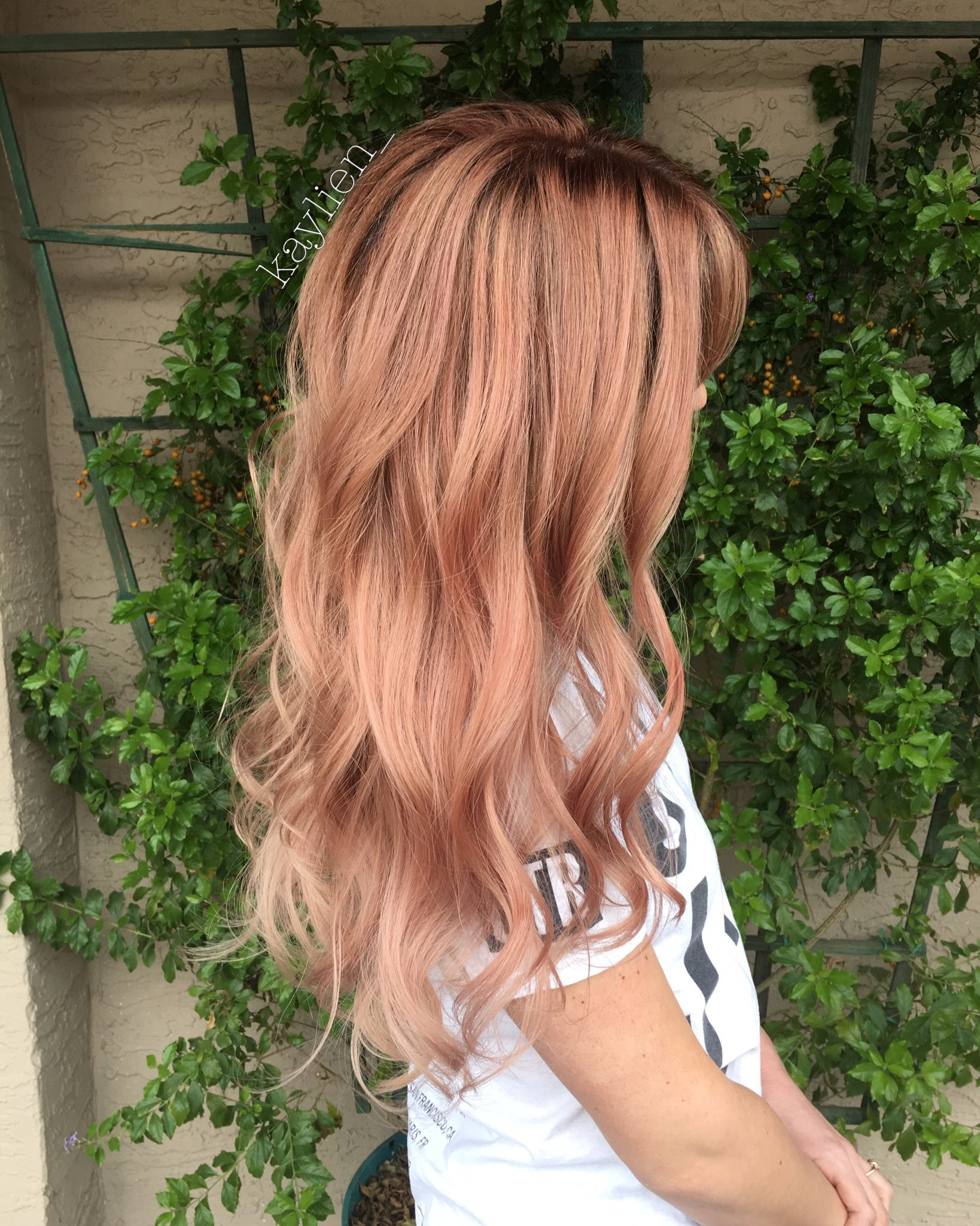 Rose gold hair used kenra metallics beeeeeeyoutifulllll