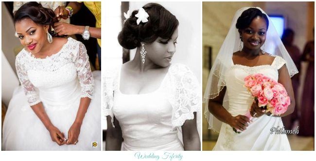 Wedding Dress Style Guide Necklines Wedding Dresses Nigerian