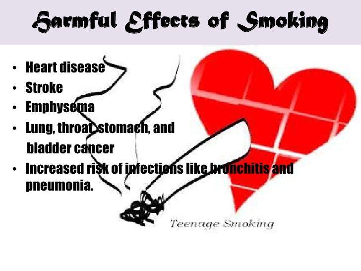 Teenage Smoking Ppt  | Emphysema | Smoking effects, Harmful