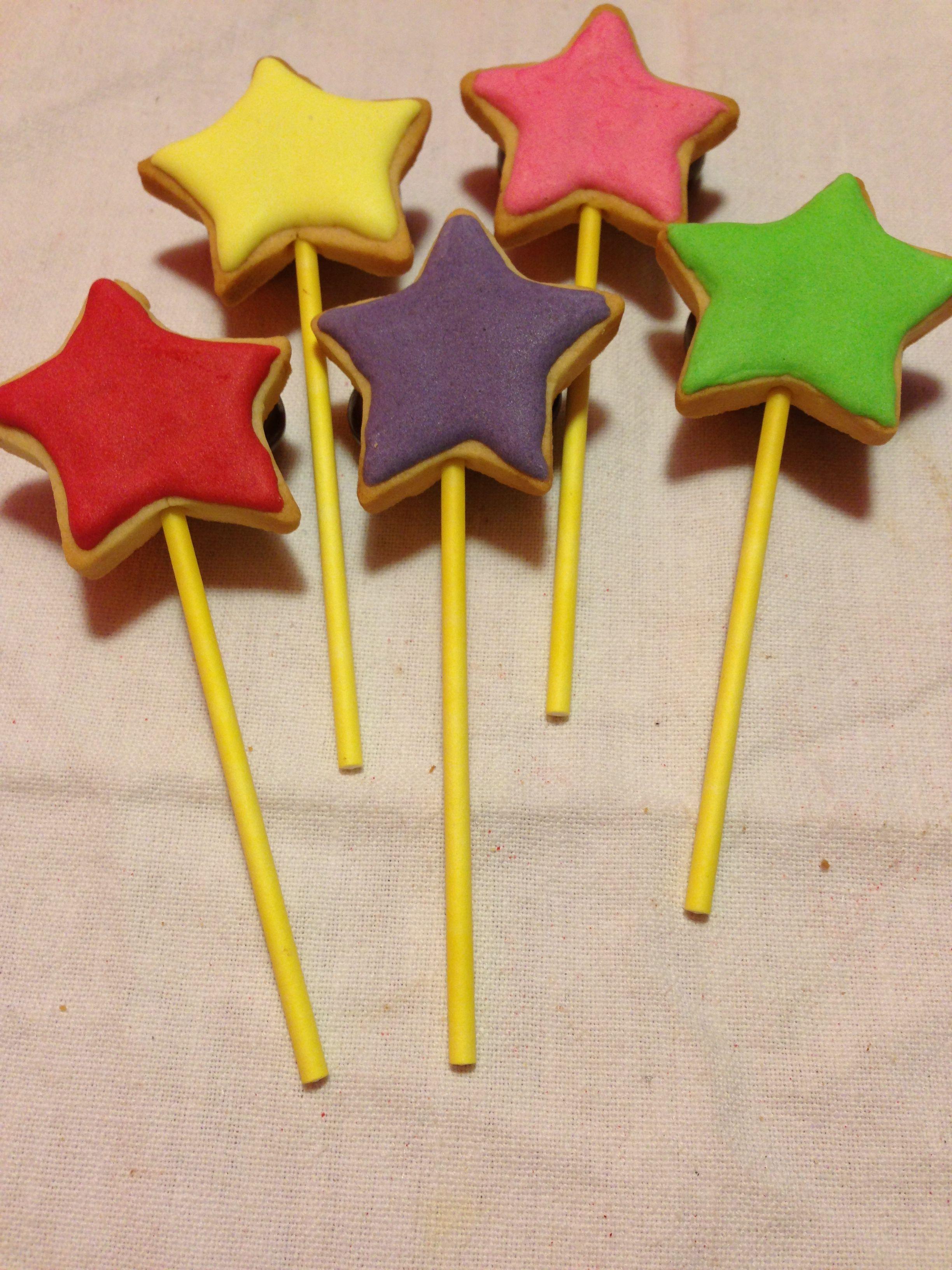 Galletas estrellas de colores