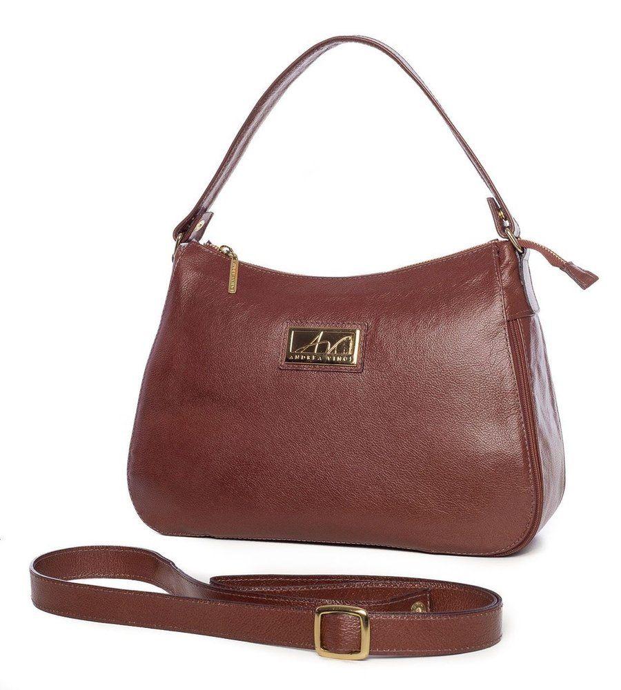 11e1dc5c7 Bolsa Belle em couro legítimo pinhão - Enluaze Loja Virtual   Bolsas,  mochilas…
