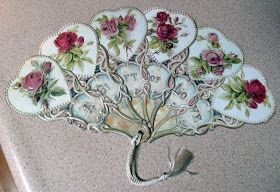 The Scrapper's Boutique: Victorian Fan. Make it from directions etc.