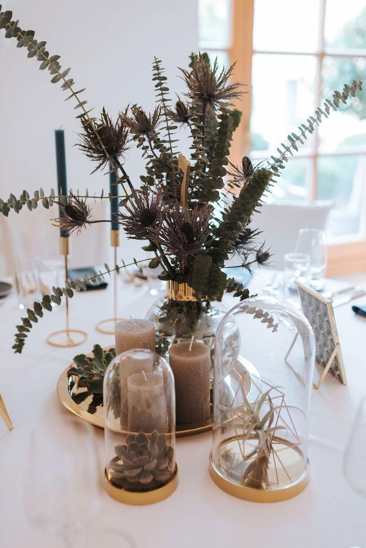 Eine Schone Deko Idee Fur Die Tischdeko Zur Hochzeit Perfekt Fur