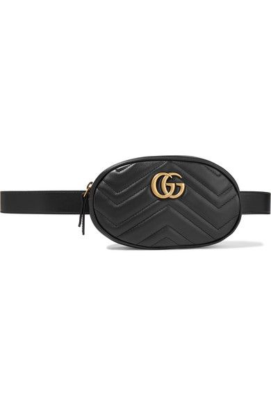 e69a2b2a155265 GUCCI GG Marmont trendy black quilted leather belt bag in 2019 ...