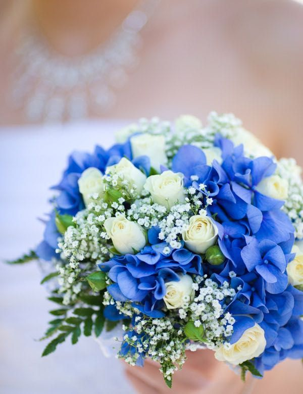 Brautstrauss Blau 4 Blumen Boda