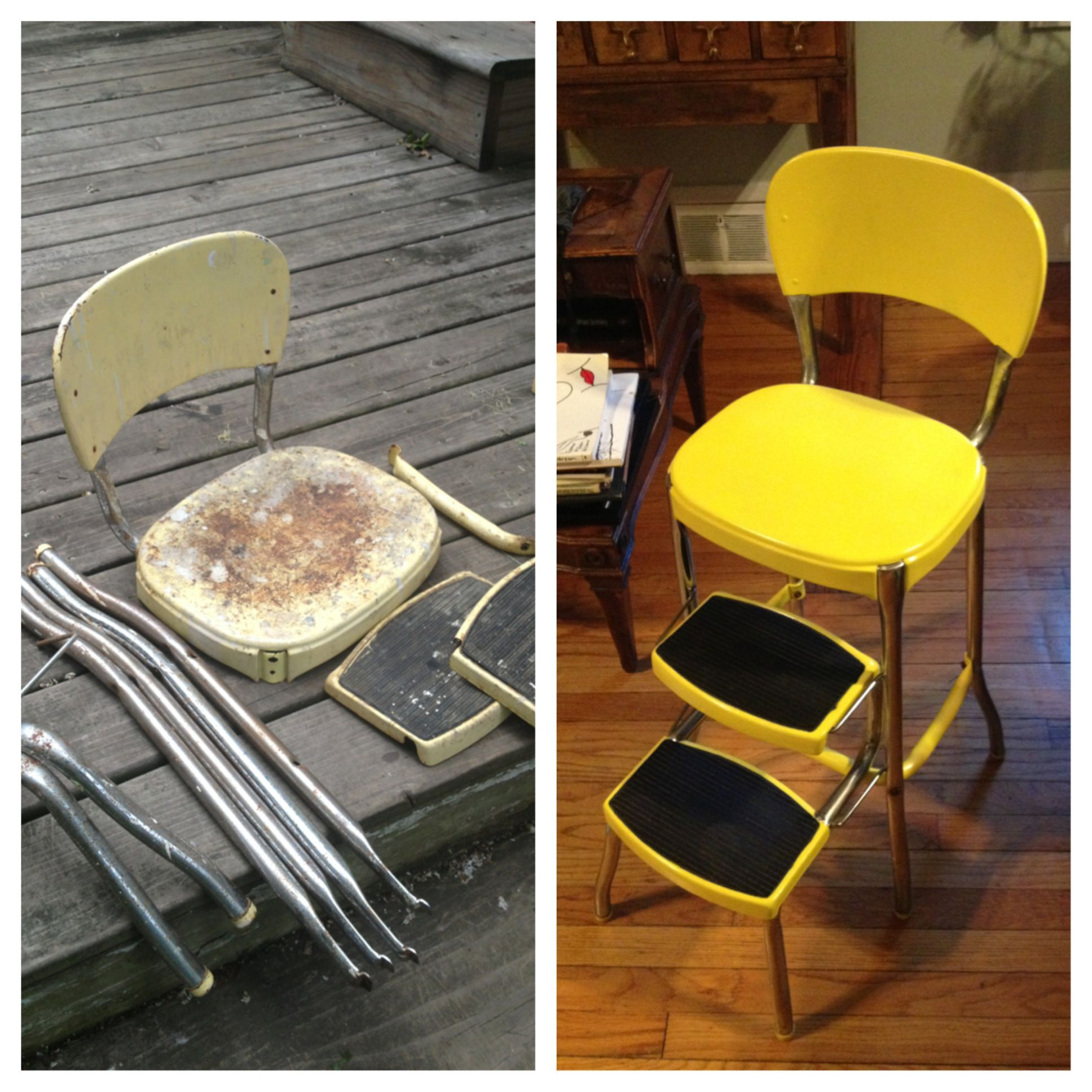 step stool chair restore I want one of these