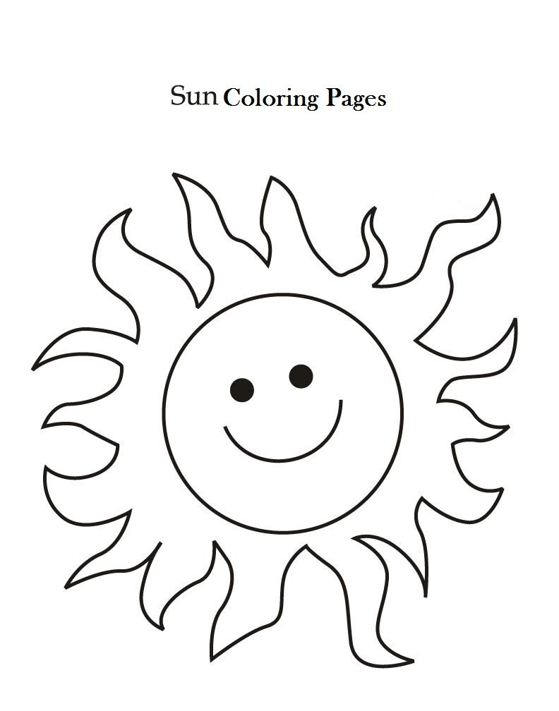 Sun Coloring Pages Free Printables Sun Coloring Pages