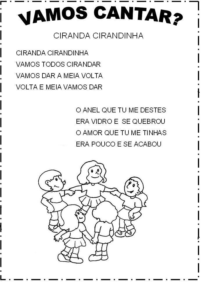Pin De Willene Vieira Em Educacao Letras De Musicas Infantis