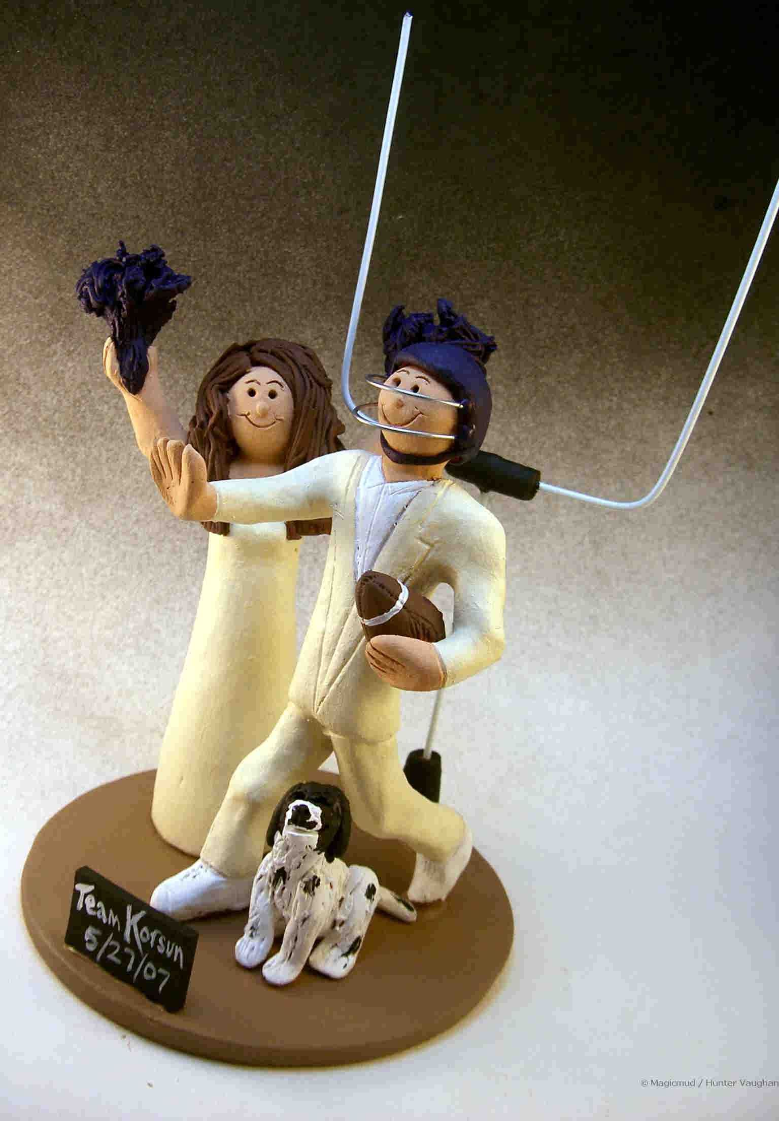 soccer player wedding cake toppers football player s wedding cake topper http www magicmud 20273