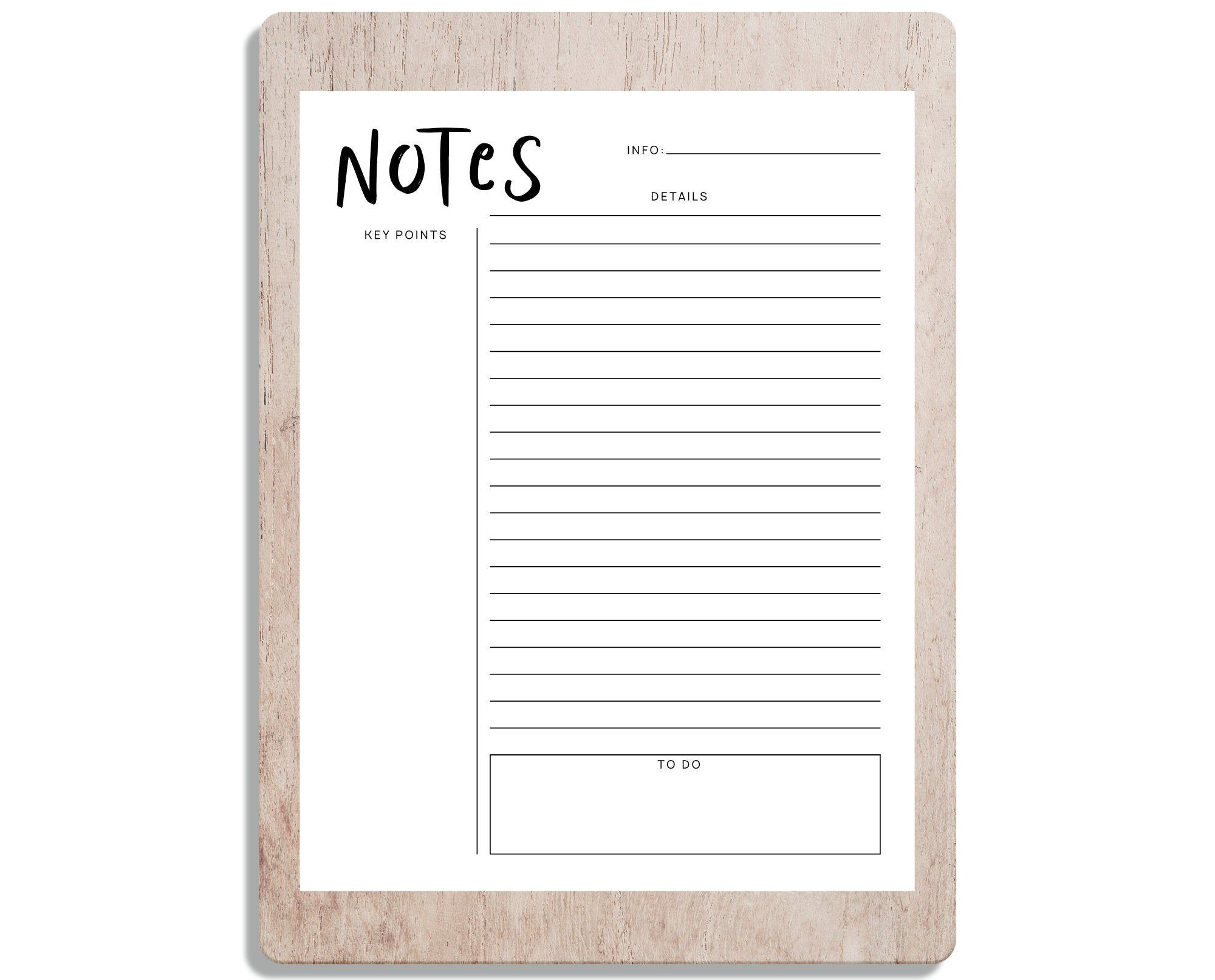 Printable Notes Printable Notes Note Taking School Organizer Lecture Notes College Notes Note Taking Templa Printable Notes College Notes Lectures Notes