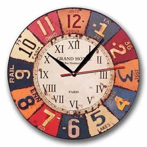 Jam Dinding Motif Vintage Plat Number Handicraft Wall Clock Kool Katz Wall Clock Art Deco Clock Wall Art Wall Clock