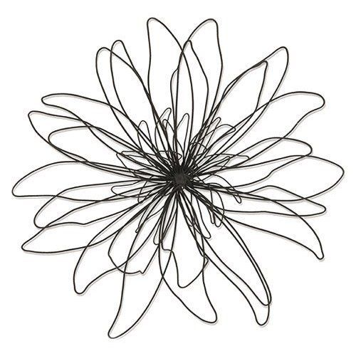 black wall flower decorations