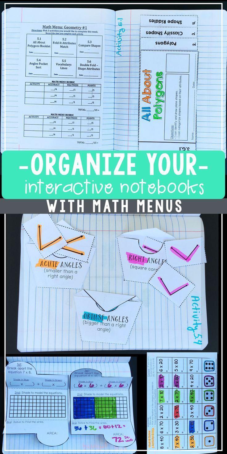 Interactive Math Notebook 3rd Grade - BUNDLE | Math, Activities and ...