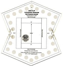 Cathedral Windows Ruler Makes Oblong Rectangular Windows