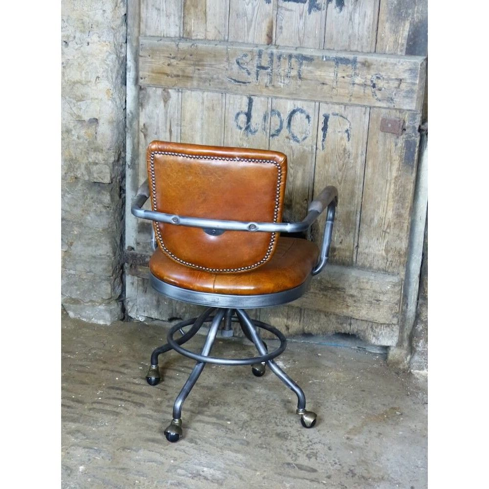Enjoyable Aviation Aviator Industrial Tan Leather Office Chair Gamerscity Chair Design For Home Gamerscityorg