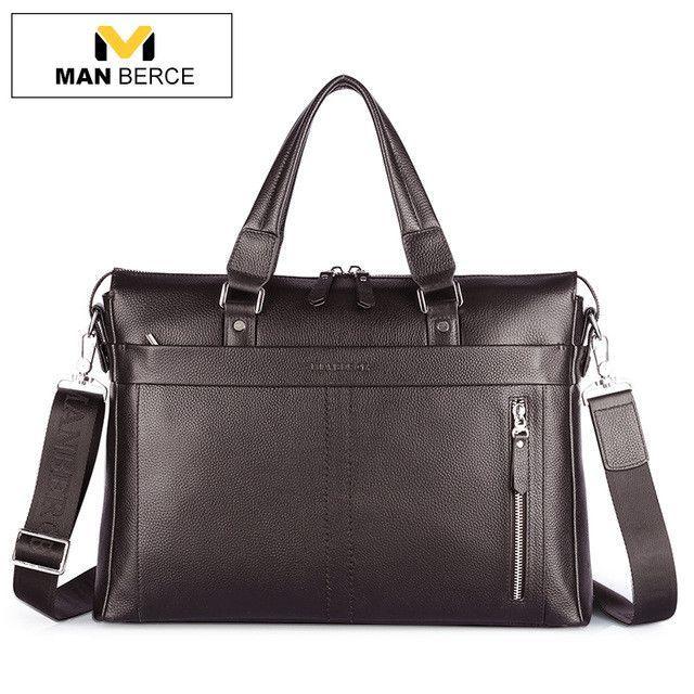Fashion Men/'s Leather Business Bag Briefcase Messenger Shoulder Bags Tote Bag
