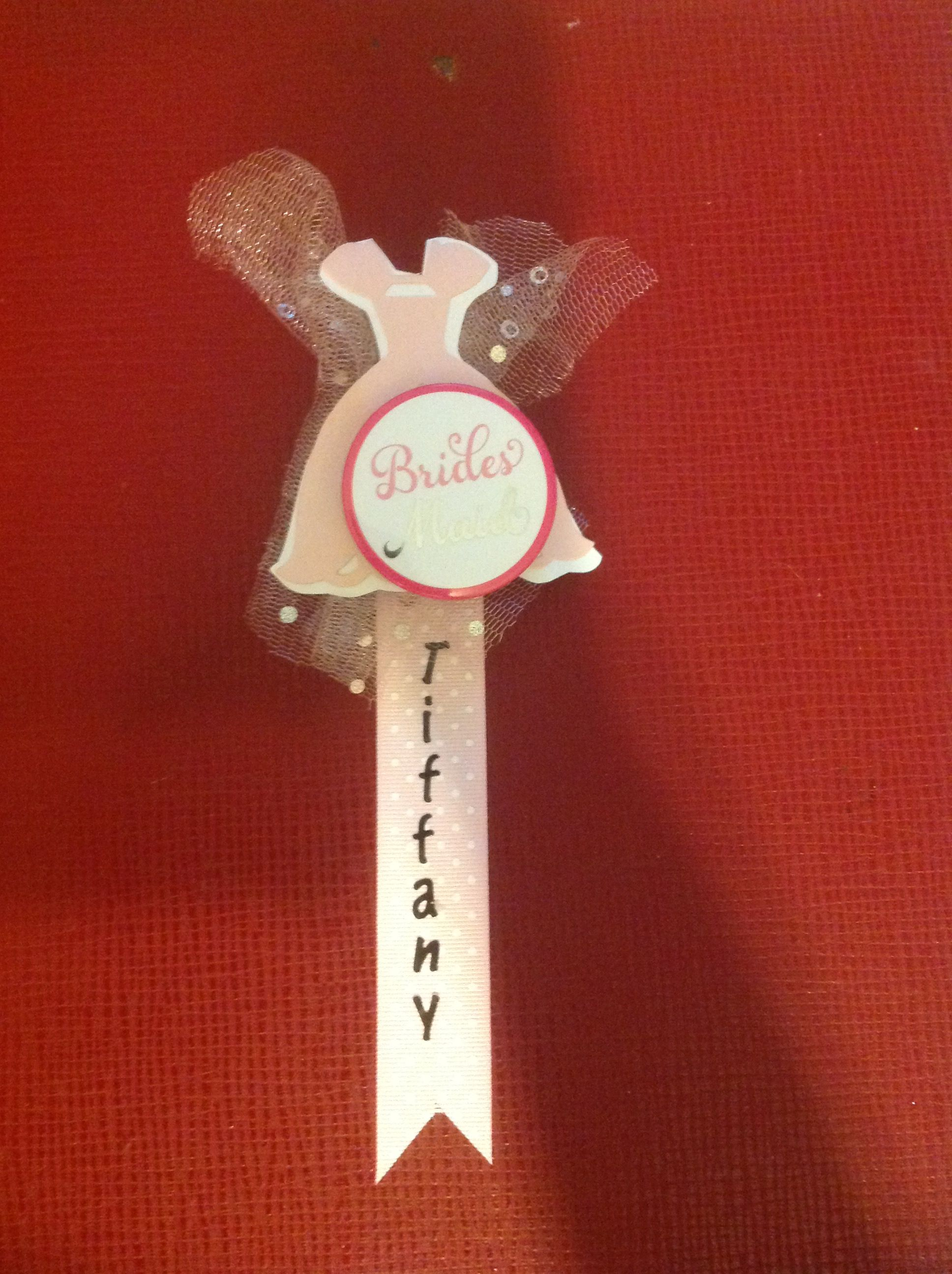 Name tags for wedding party at bridal shower