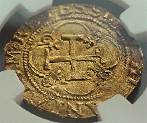 ES 1516-56 AD Spain Crusader Knights Templar Cross Rare Antique Gold Coin Escudo MS-62 NGC at Amazon's Collectible Coins Store