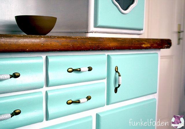 anleitung vintage k chenbuffet neu lackieren einrichten und wohnen pinterest. Black Bedroom Furniture Sets. Home Design Ideas