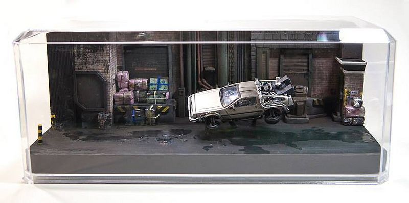 Back To The Future Ii 1 43 Scale Miniature Diorama Back To The