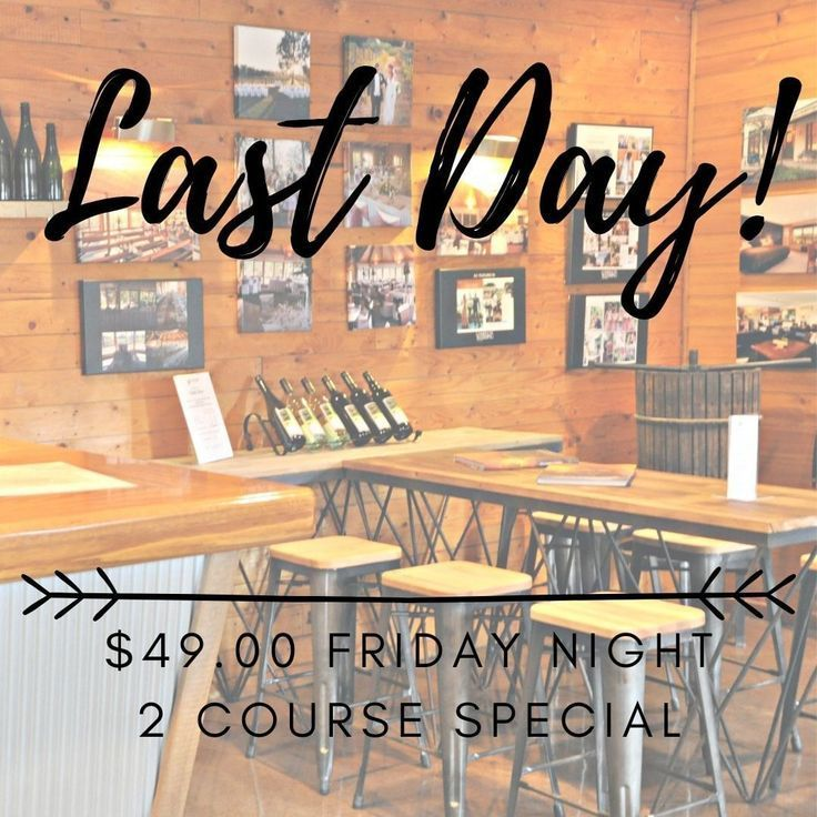 Last Day for our Friday night $49.00 2 course dinner special! Indulge yourself #fridaynightdinner Last Day for our Friday night $49.00 2 course dinner special! Indulge yourself #fridaynightdinner