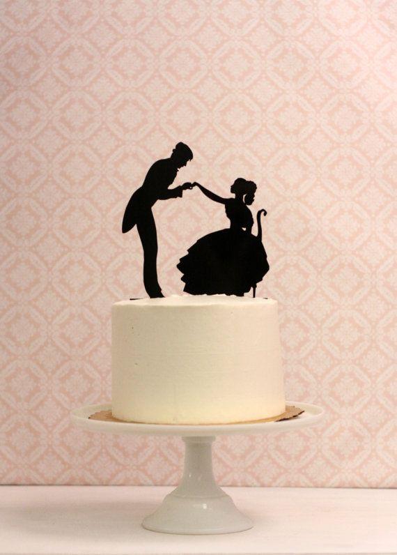 Silhouette Wedding Cake Topper - Victorian Inspired | Wedding cake ...