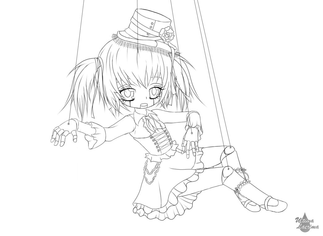 Creepy Doll Lineart Creepy Dolls Creepy Drawings Anime [ 764 x 1045 Pixel ]