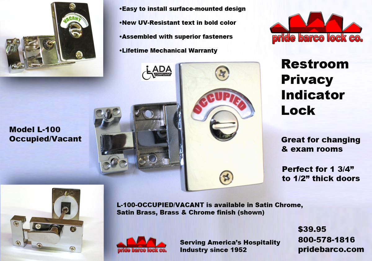Super Restroom Privacy Lock Occupancy Indicator Latch Vacant Interior Design Ideas Clesiryabchikinfo