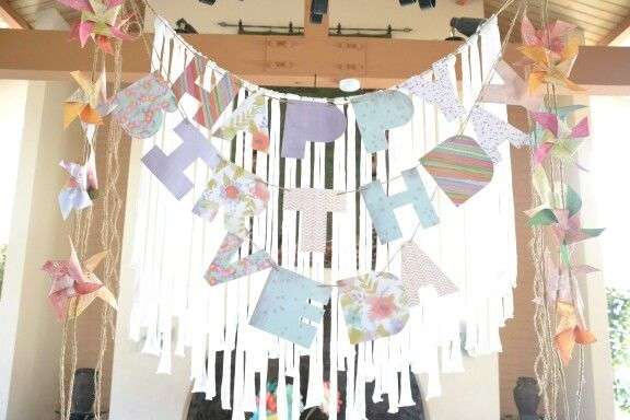 Pinwheel decorations - birthday party,  shabby chic