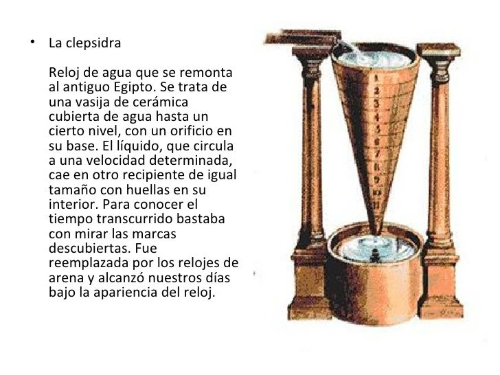 La Clepsidra Reloj De Agua Que Se Remonta Al Antiguo