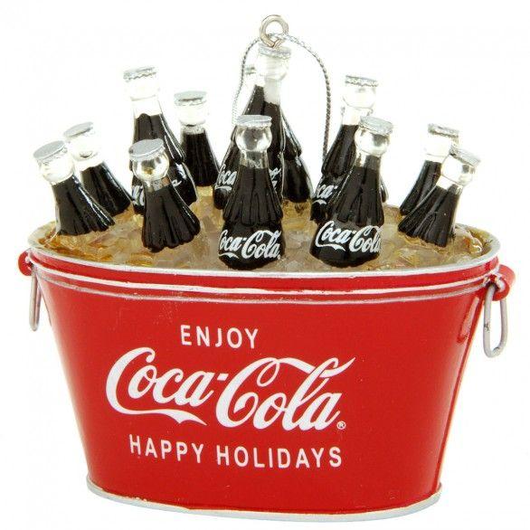 Coke cooler ornament