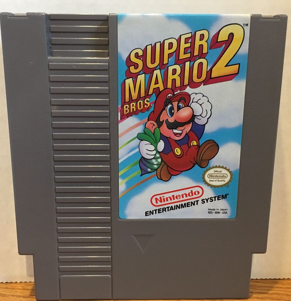 Super Mario Bros 2 Nintendo Nes Game Cartridge Cleaned Tested Guaranteed 60 Days Videogames Nes Nintendo Mario Bros Nes Games Nintendo Nes Games