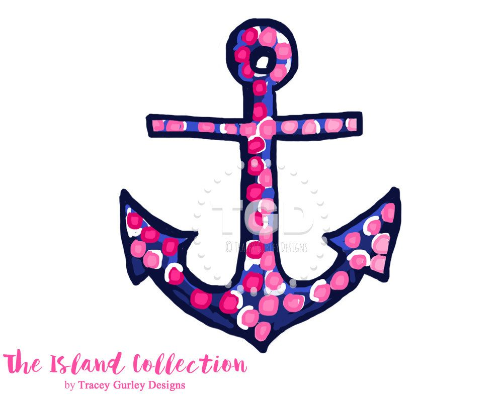 preppy pink and navy anchor clip art original art download anchor rh pinterest com au navy clipart black and white navy clip art symbols