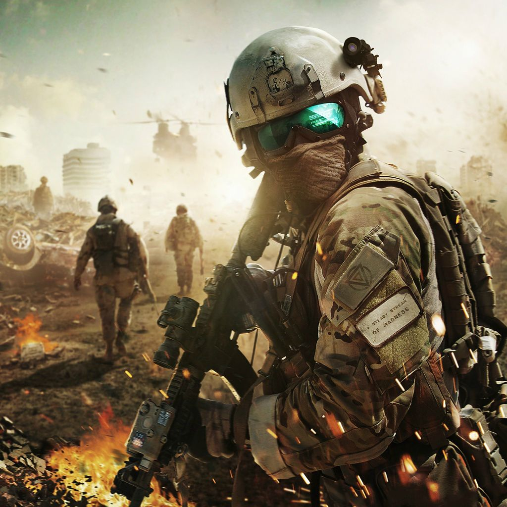 Fighting Soldiers Battle Field Ipad Wallpapers Dia Do Senhor Militares Roupas Militares