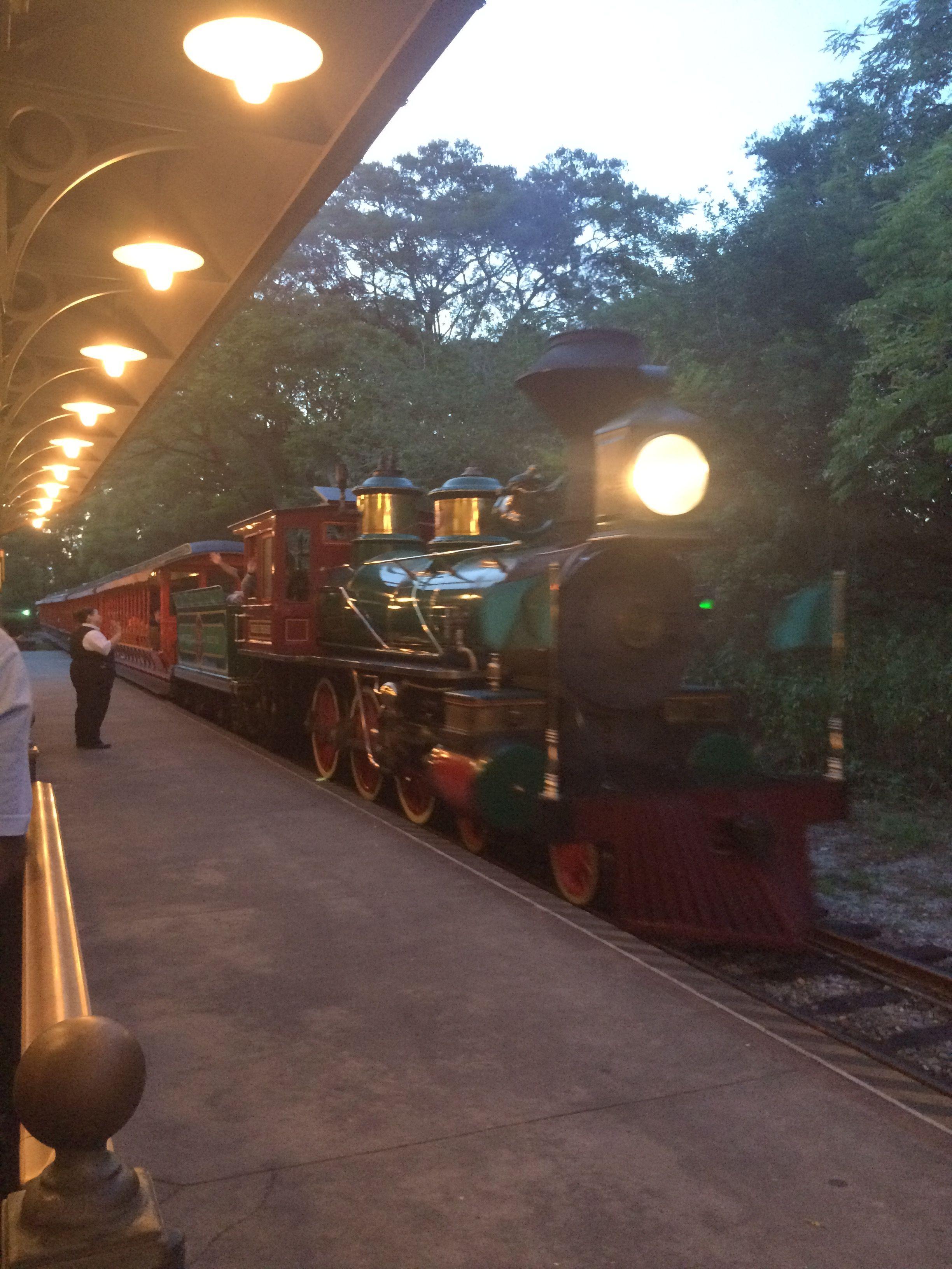 Train arriving to Fantasyland