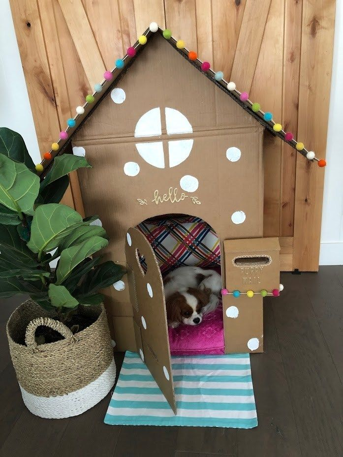 Photo of Make an Adorable DIY Dog Playhouse Out of a Box