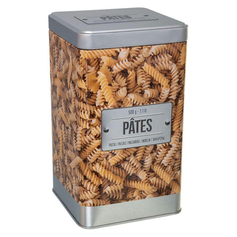 Boite De Rangement Pour Pates Metal Dessin Relief Et Couvercle Argente D 10 5x18 5cm Alimentation Animale Couvercle Pates