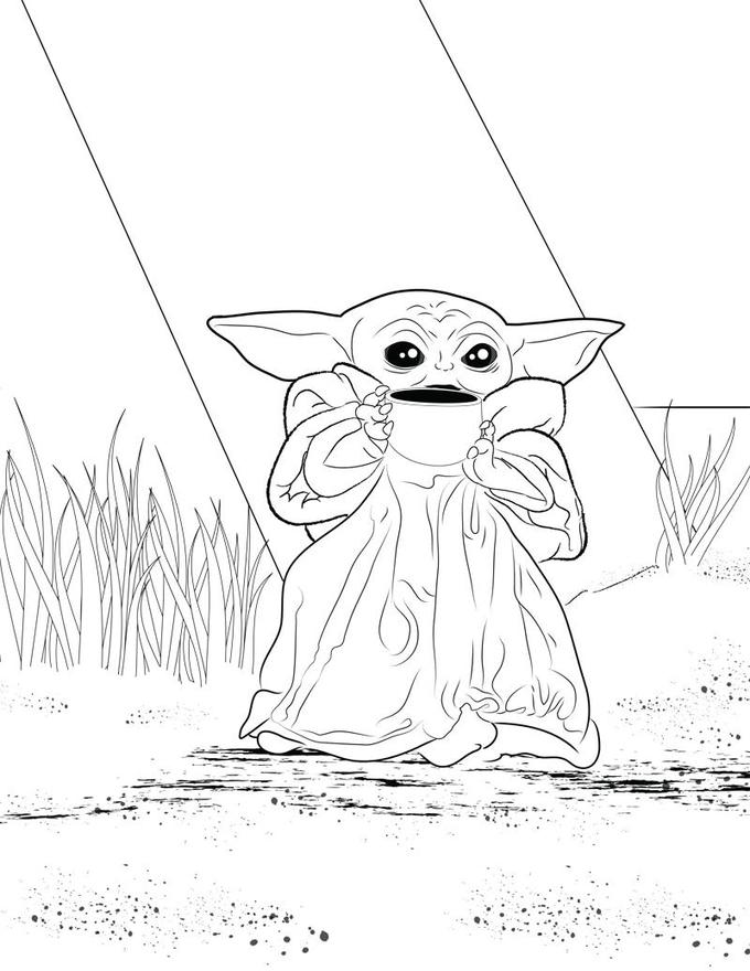 Coloring Pages For You To Use R Babyyoda Baby Yoda Grogu Star Wars Coloring Book Star Wars Coloring Sheet Coloring Pages